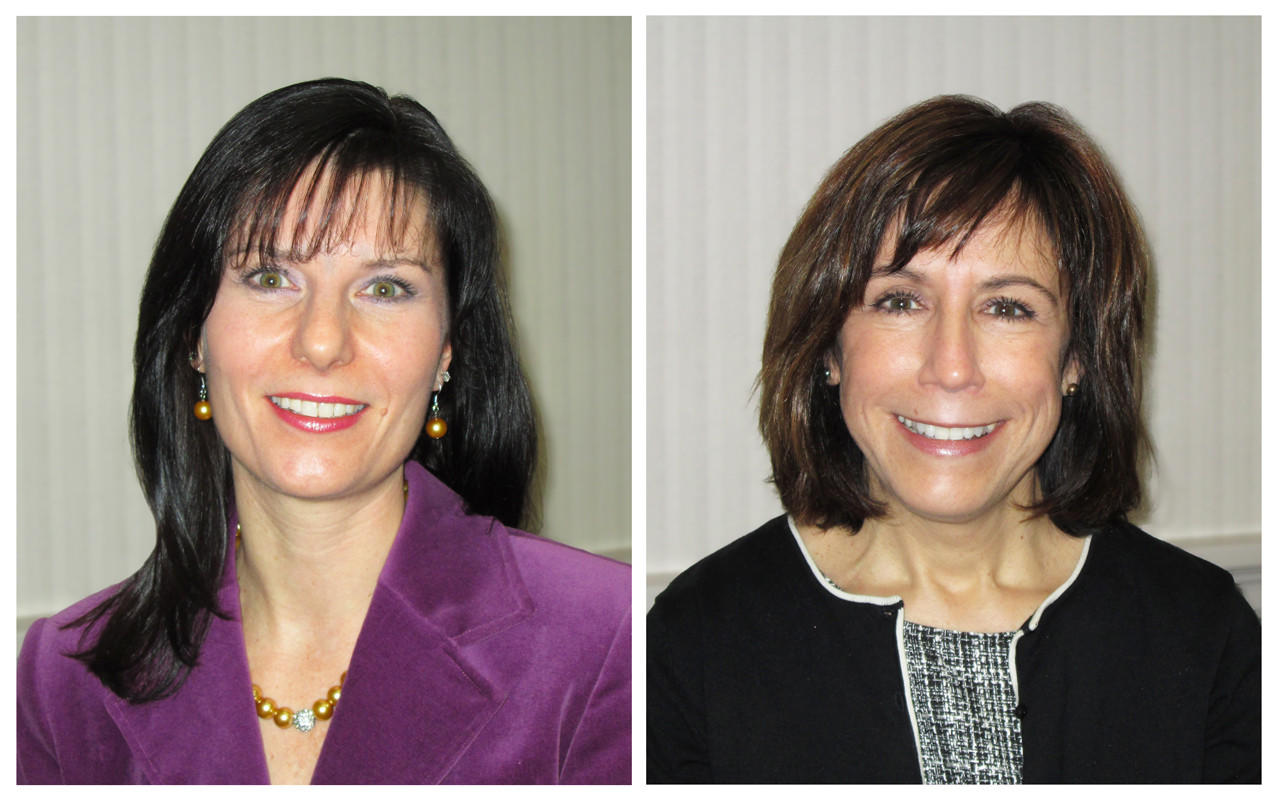 The First National Bank of Suffield recently promoted Carrie LeBlanc to senior vice president and Denise Balboni to vice president.