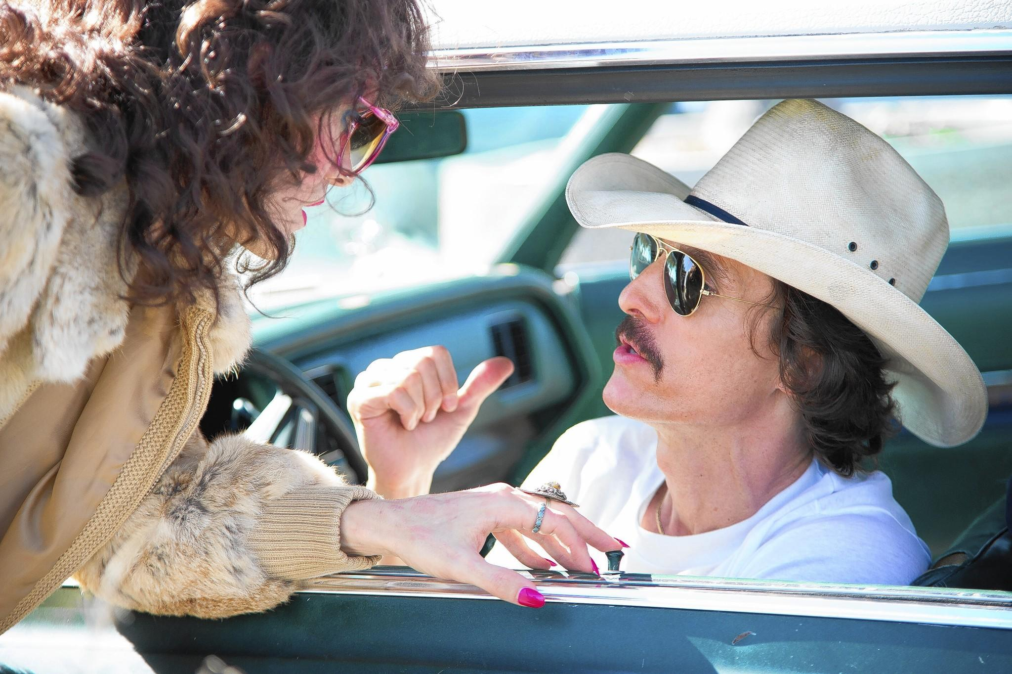 "Jared Leto, left, and Matthew McConaughey of ""Dallas Buyers Club"" are front-runners in their respective Oscar categories."
