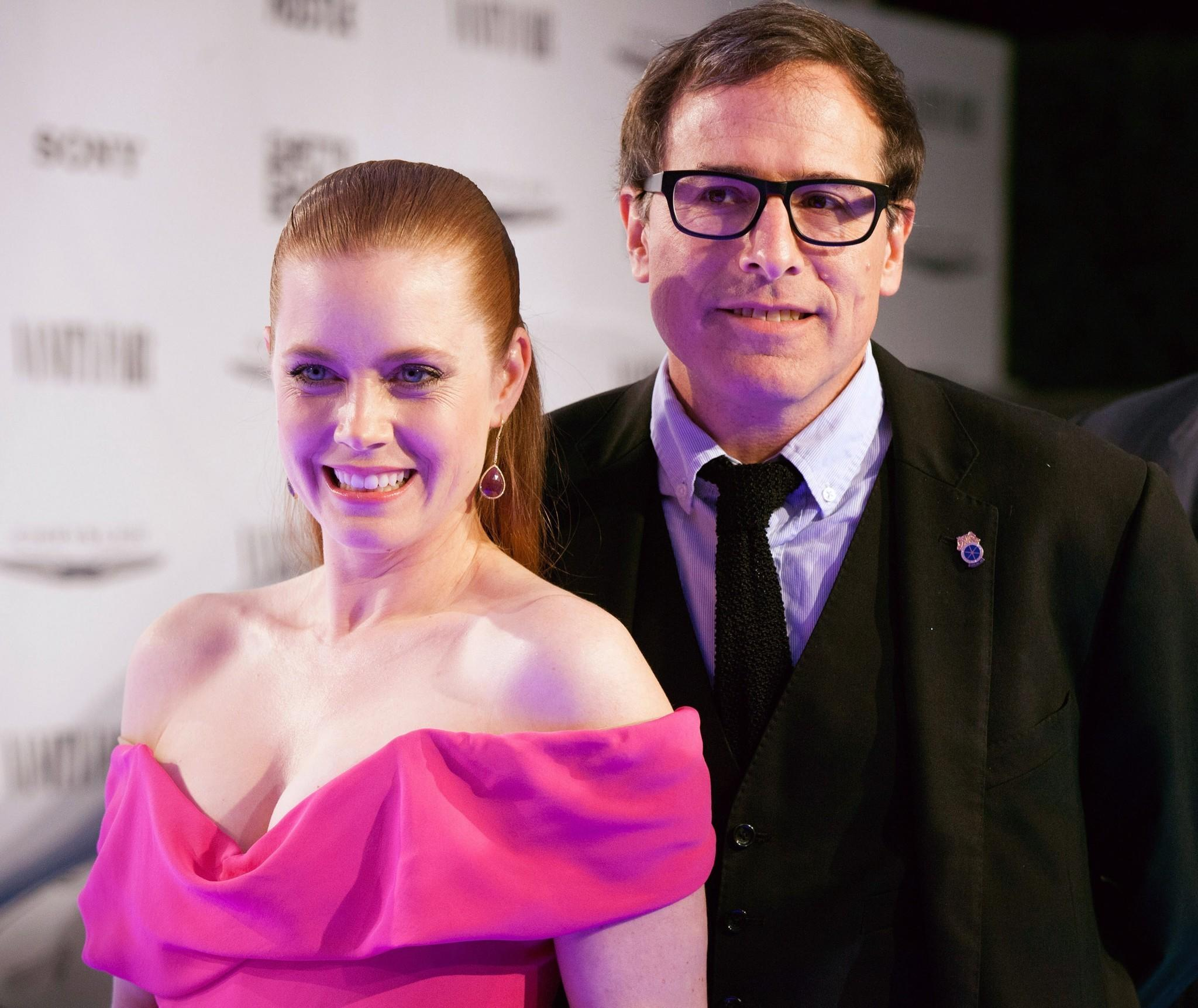 "Amy Adams and David O. Russell arrive for the Vanity Fair Campaign Hollywood ""American Hustle"" toast sponsored by Chrysler."