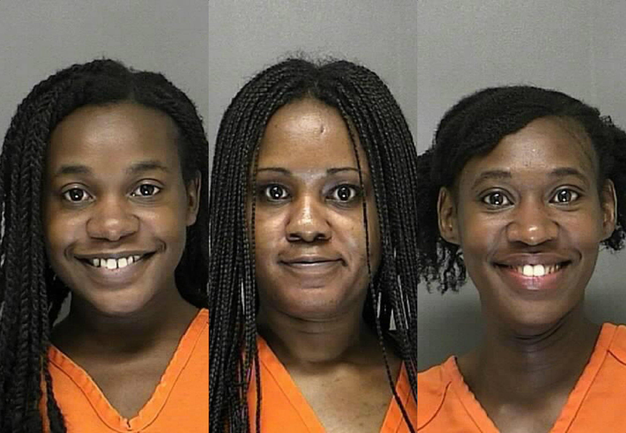 Ishiyah McGhee, left, Janine McGhee, and Moriyah McGhee are accused of attacking a 14-year-old girl in Deltona.