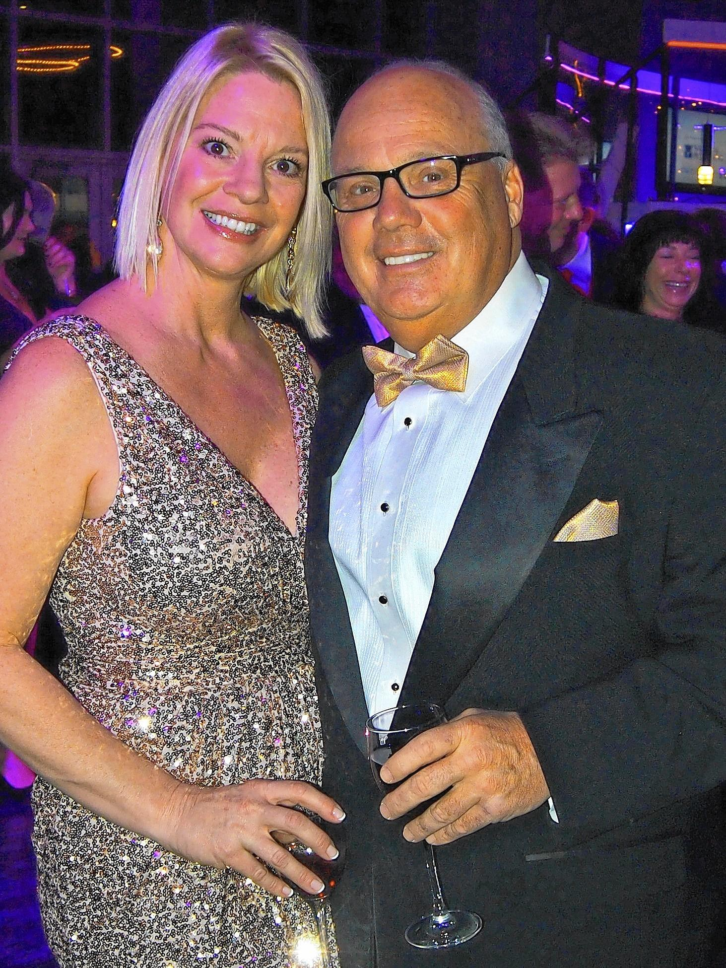 Tony Iannelli, president and CEO of the Greater Lehigh Valley Chamber of Commerce, was joined by his fiancee Wendy Perryat the 25th Annual Snow Ball Feb. 8 at the Sands Bethlehem Event Center.