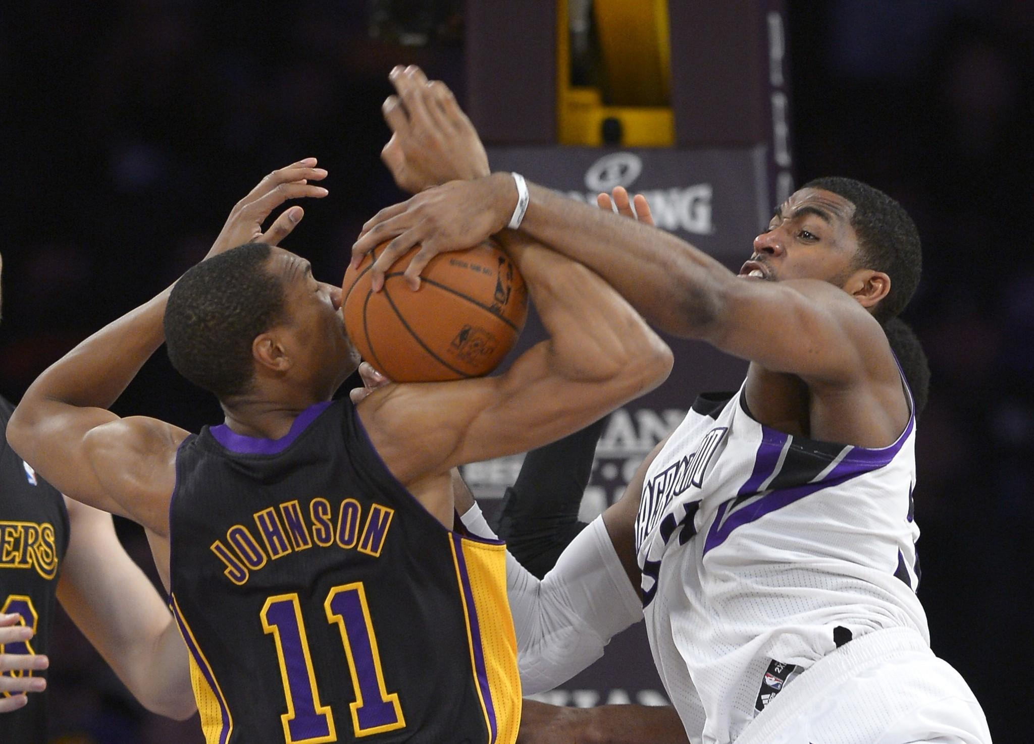 After forward Wesley Johnson and the Lakers battled Jason Thompson and the Kings to a 126-122 victory on Friday, the schedule and opponents only get tougher to finish the season.
