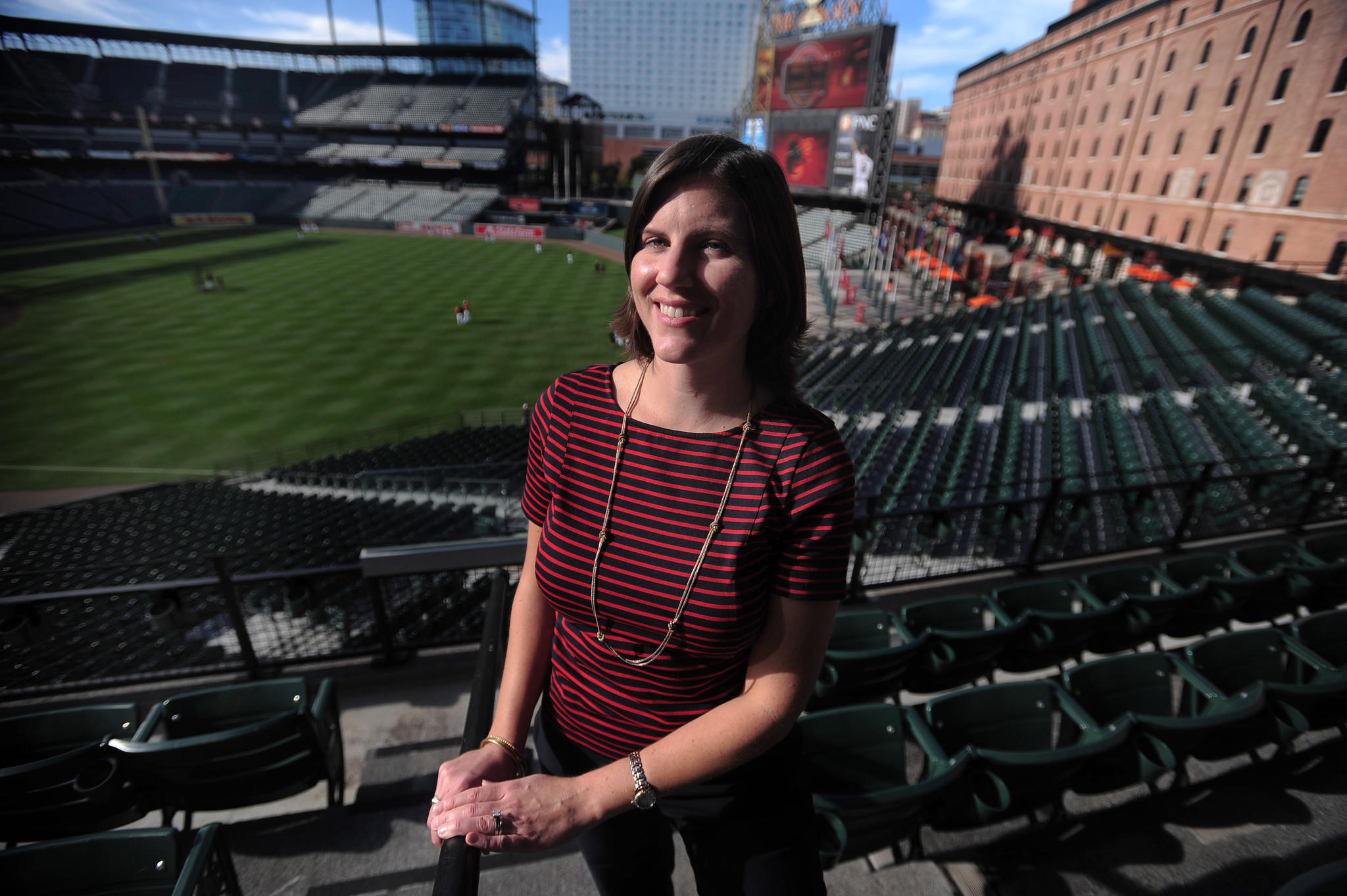 Orioles PR Director Monica Barlow in 2012.