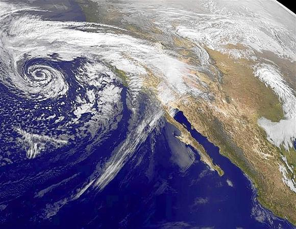 Swirling Eastern Pacific Ocean storm system headed for California is ...