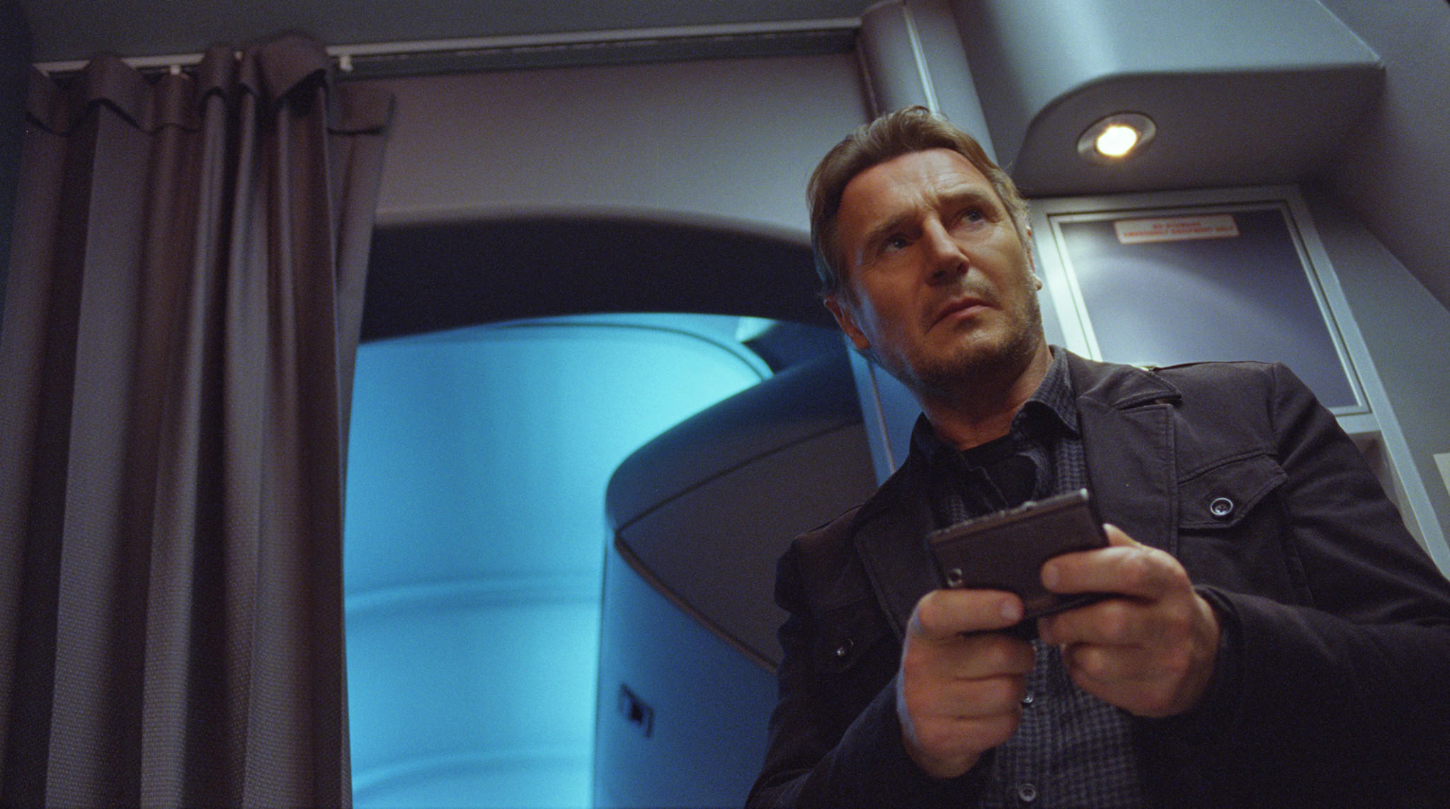 """Liam Neeson appears in a scene from """"Non-Stop."""""""