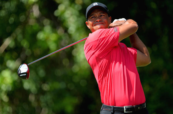 Tiger Woods watches his drive at No. 3 during the final round of the Honda Classic on Sunday.