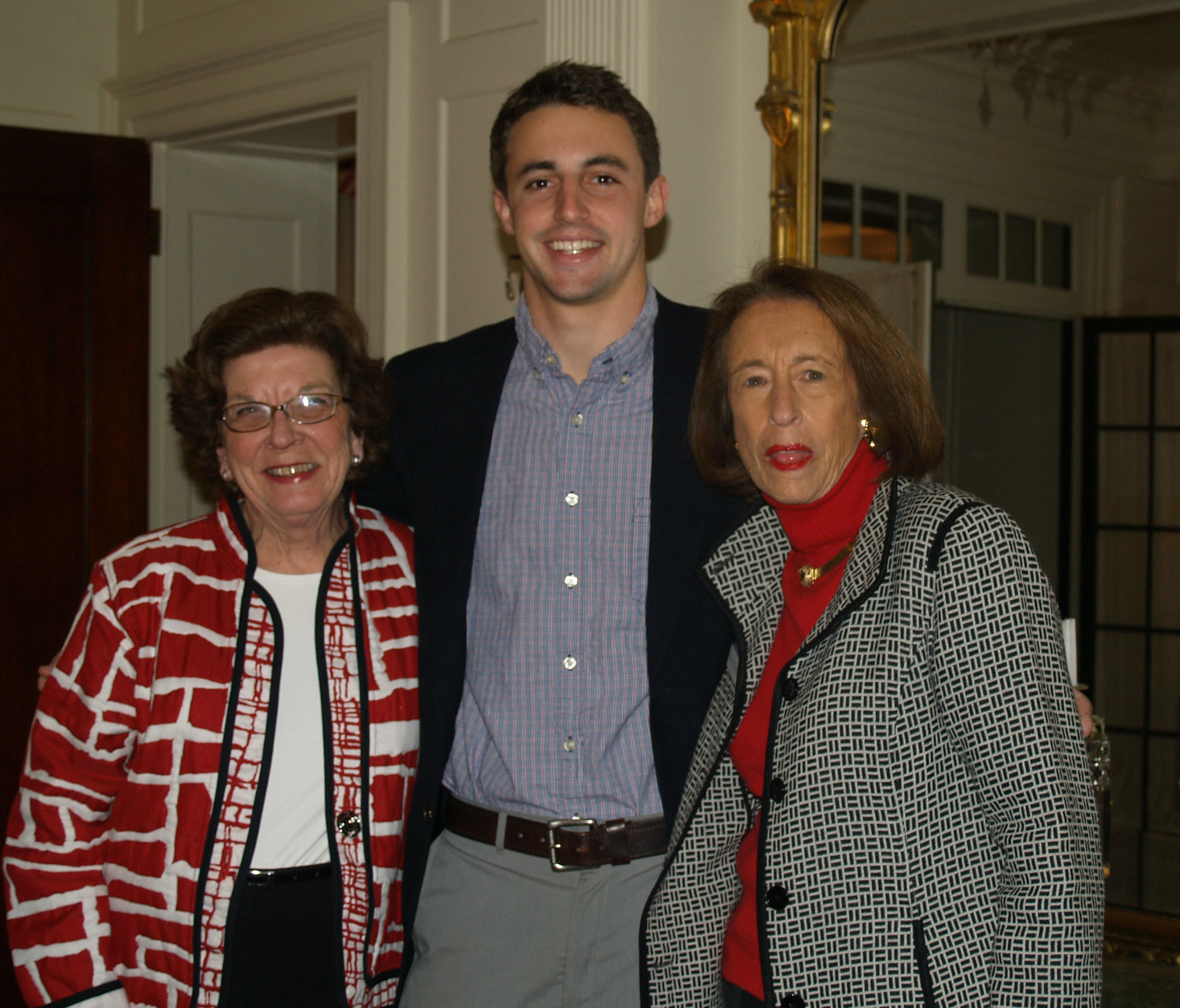From left to right: Town and County Club President Dale Ryan of Hartford, Author Dylan Dethier, and Vice President Susan Scherer of Avon.