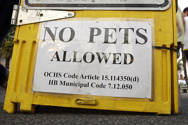 Businesses say customers are skirting bans on their dogs by falsely claiming they are service animals.