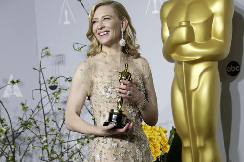 "<b><a href=""http://www.latimes.com/entertainment/envelope/fashion/la-ar-cate-blanchett-fashion-20140222,0,7799718.photogallery"" target=""_blank"">The ""Blue Jasmine"" star</a> on being a frontrunner:</b><br>