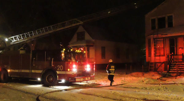 An overnight fire in the Englewood neighborhood left 8 people displaced.