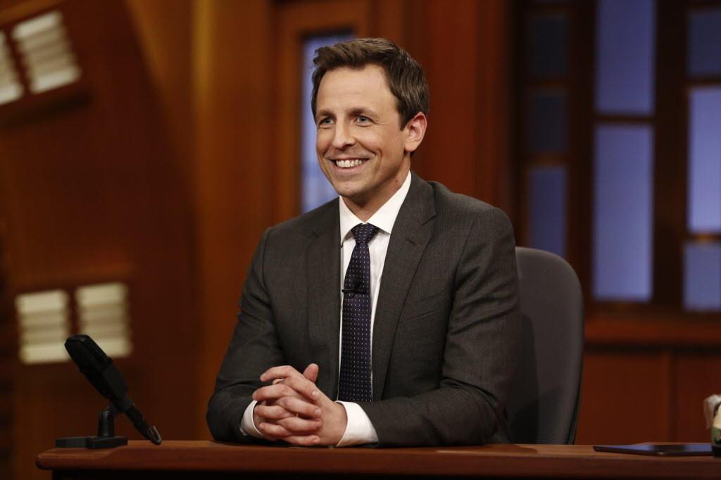"Seth Meyers hosts NBC's ""Late Night with Seth Meyers"" Feb. 24, 2014"