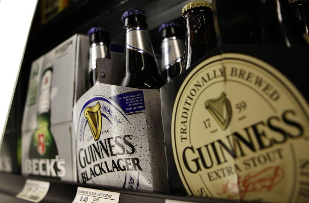 Guinness for sale at Binny's Beverage Depot t at 213 West Grand Ave. in Chicago.