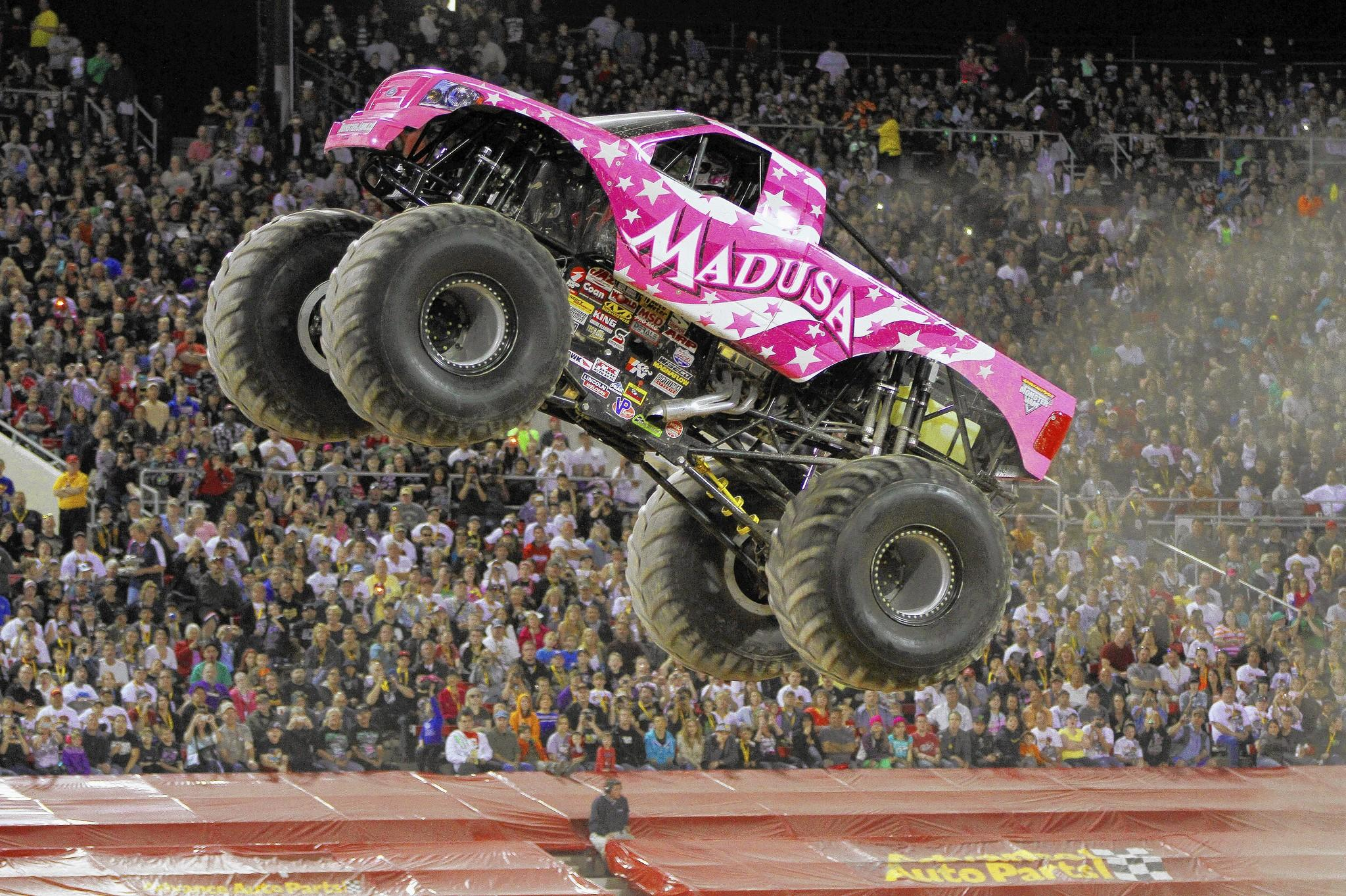 Monster Jam is at the Webster Bank Arena in Bridgeport March 7 to 9, featuring Madusa in her first appearance in Bridgeport.