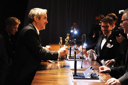 """Gravity"" director Alfonso Cuaron, left."