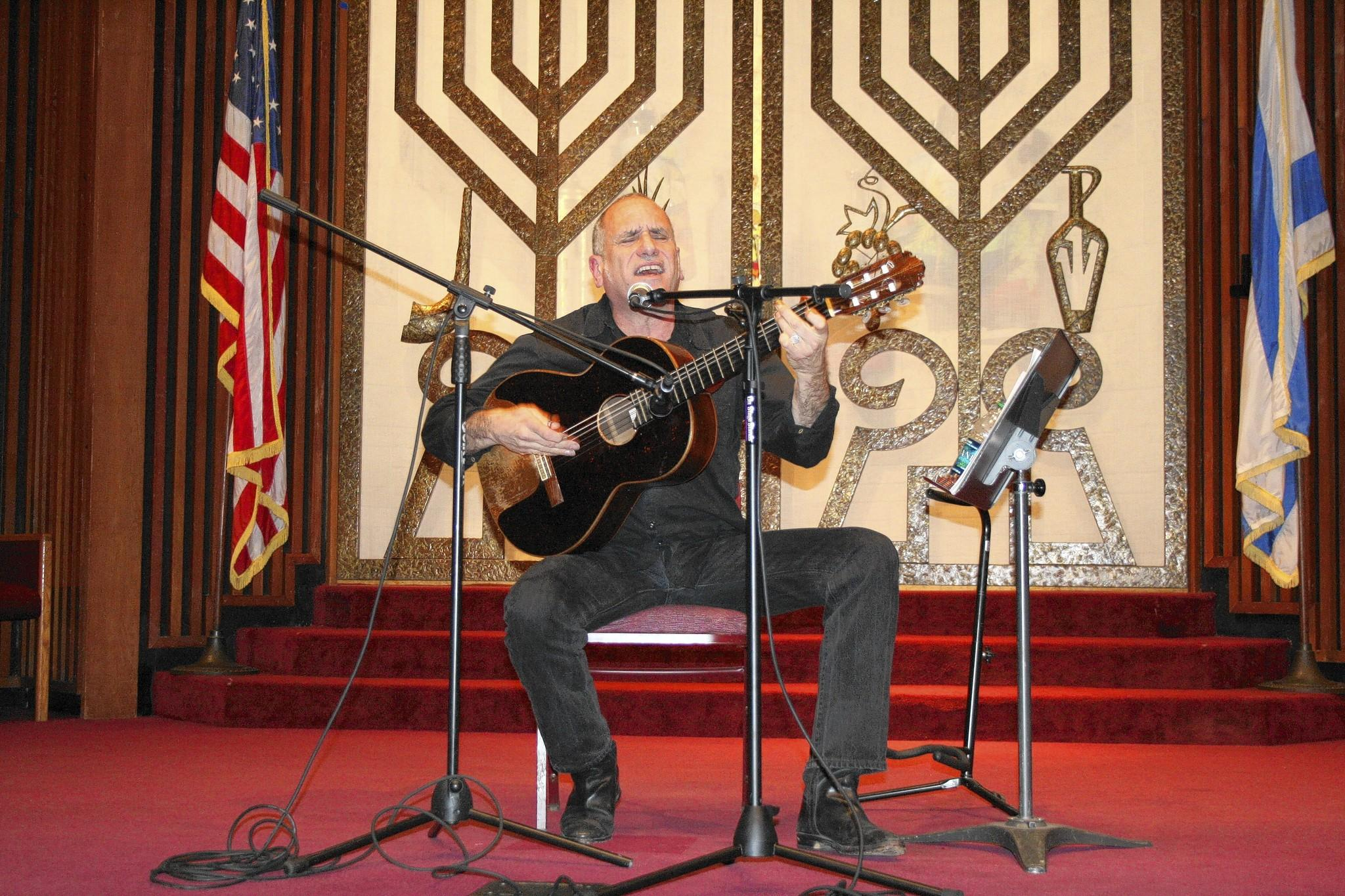 Israeli singer/songwriter David Broza performs at Temple Sinai.