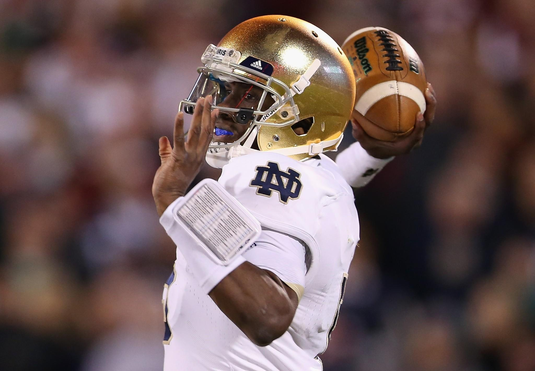 Everett Golson returned Monday to Notre Dame practice.