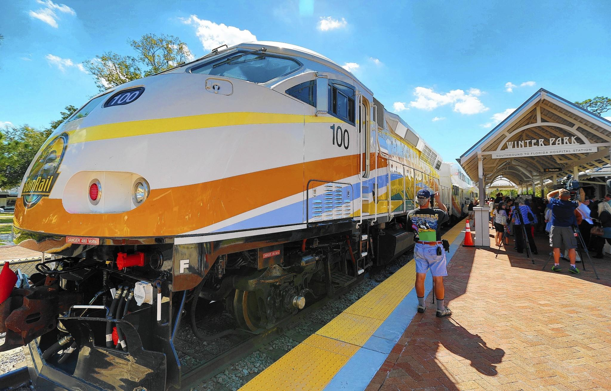 Winter Park held a ribbon-cutting ceremony for its new SunRail/Amtrak station, on Monday, March 3, 2014.