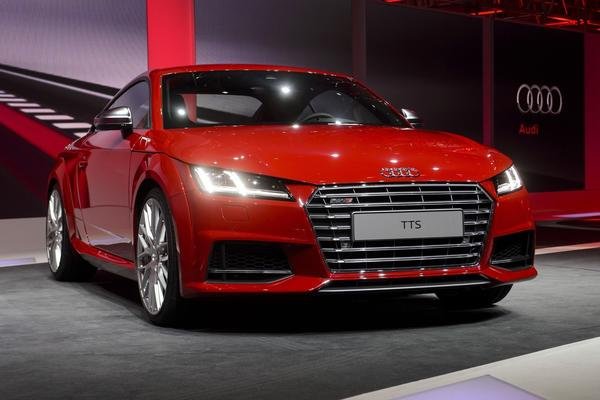 The new Audi TTS is presented during a preview show by Volkswagen Group just before the Geneva Motor Show.