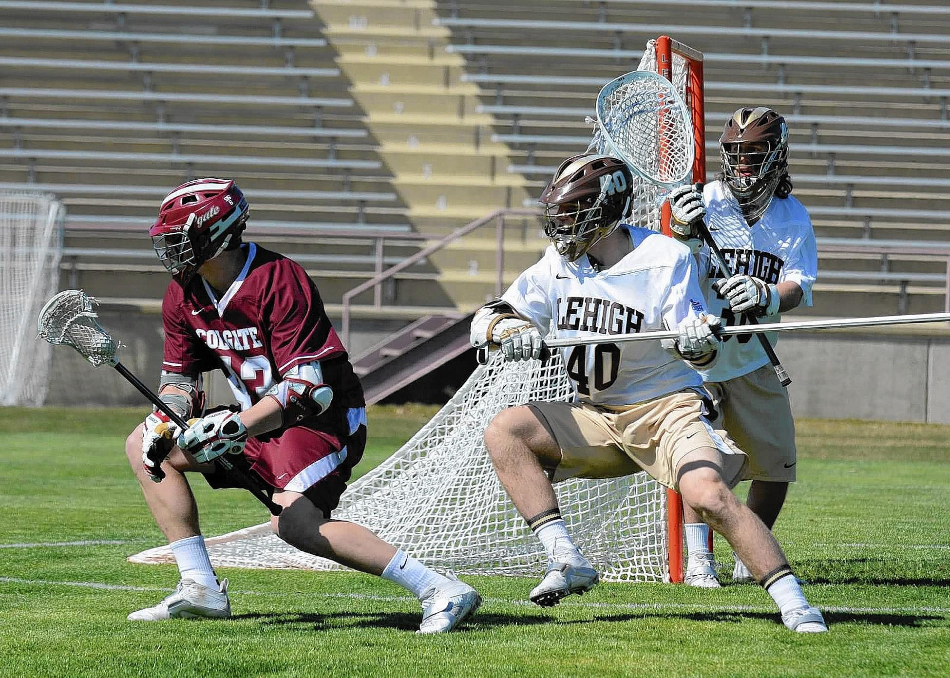 Lehigh's Ty Souders (40) has five turnovers (caused), 14 ground balls and an assist through the first five contests of the seasons.