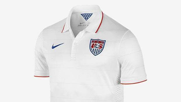 The shirt the U.S. team will wear during the 2014 World Cup.