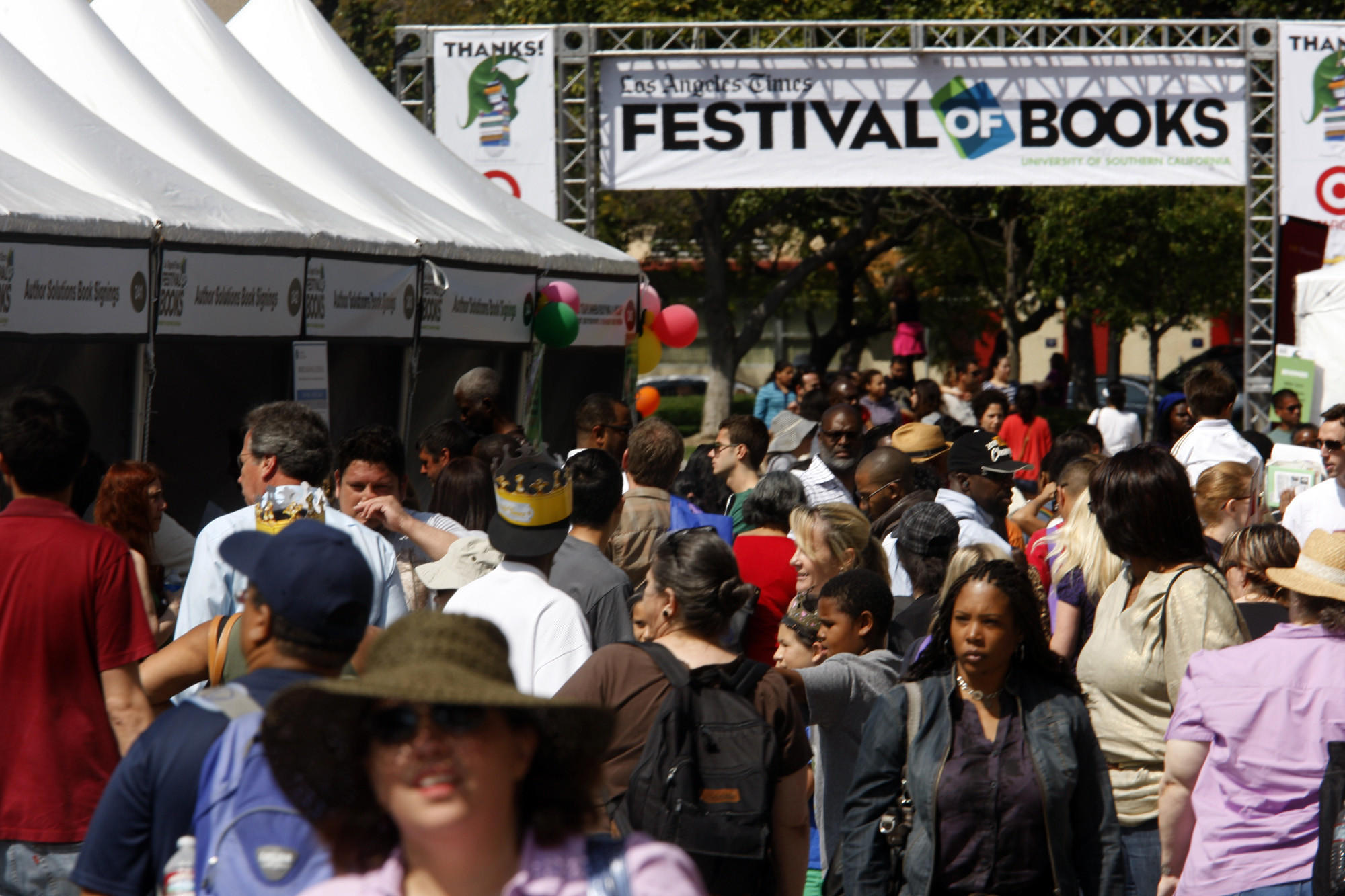 The Los Angeles Times Festival of Books in 2012.