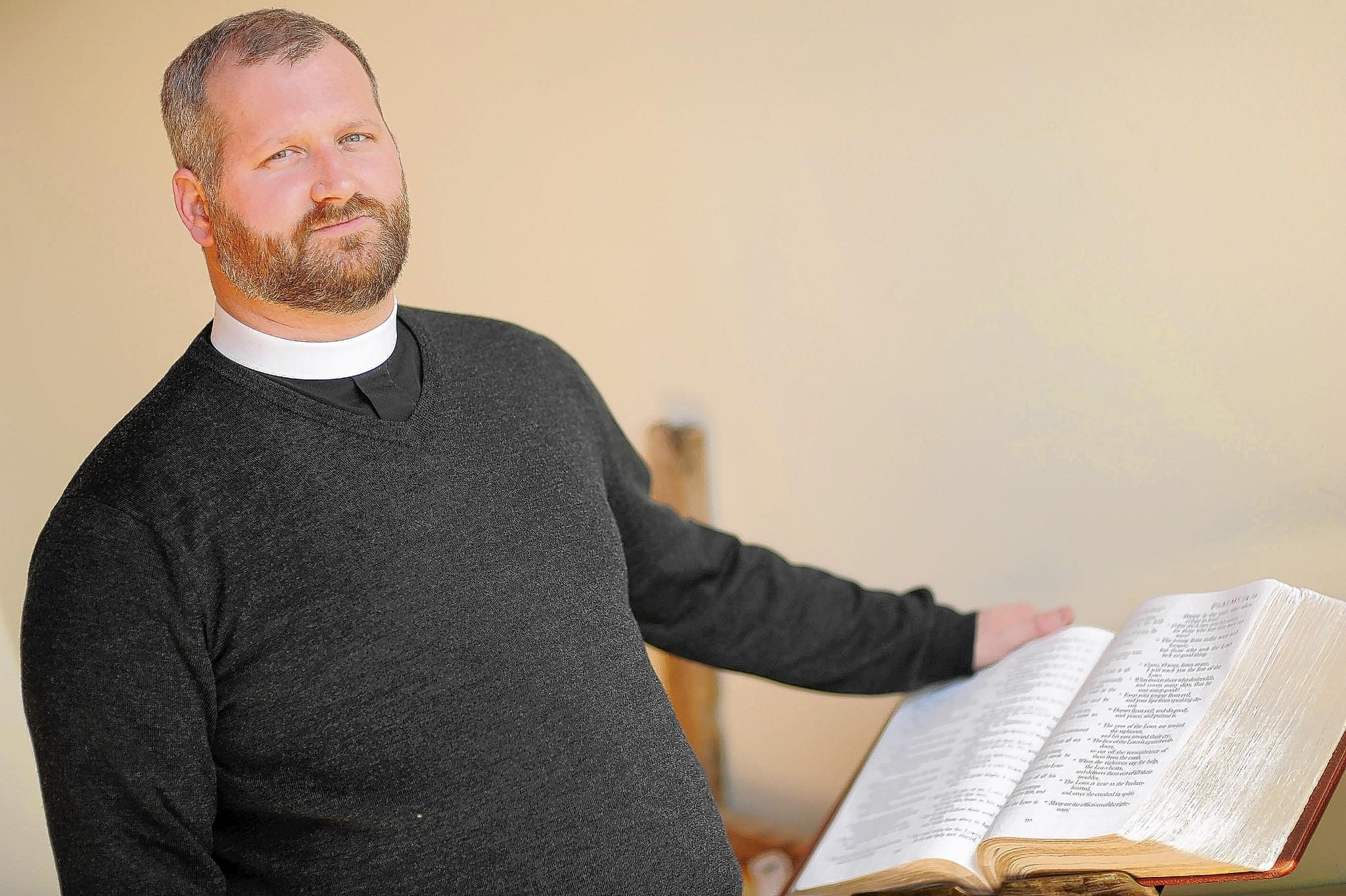 Rev. Kristofer Lindh-Payne of Epiphany Episcopal Church in Timonium aims to connect with people outside church walls through programs like Ashes to Go and other outreach efforts.