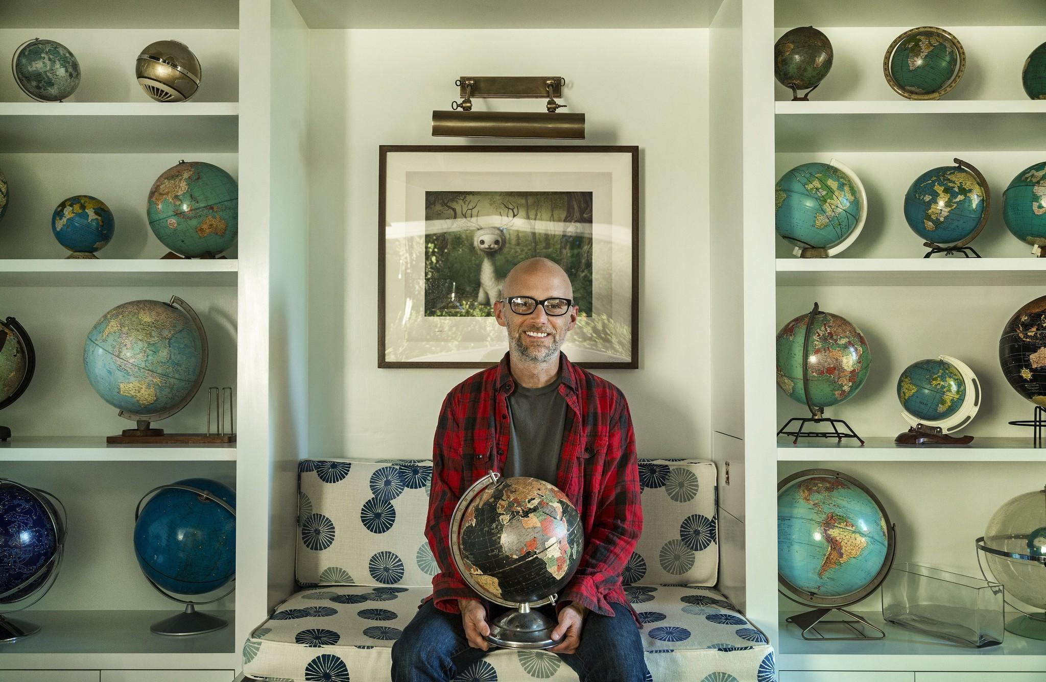 Moby, at home with his globes, is among the headliners at this year's Lightning in a Bottle festival.
