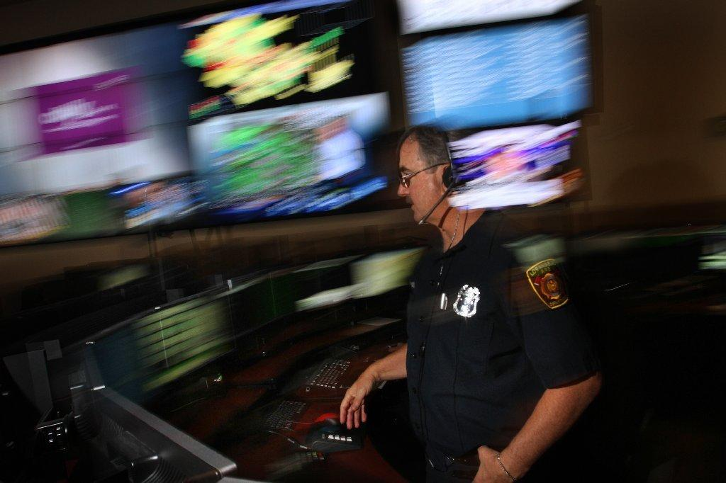 Steve Bloch mans the Los Angeles Fire Department dispatch center in 2012.