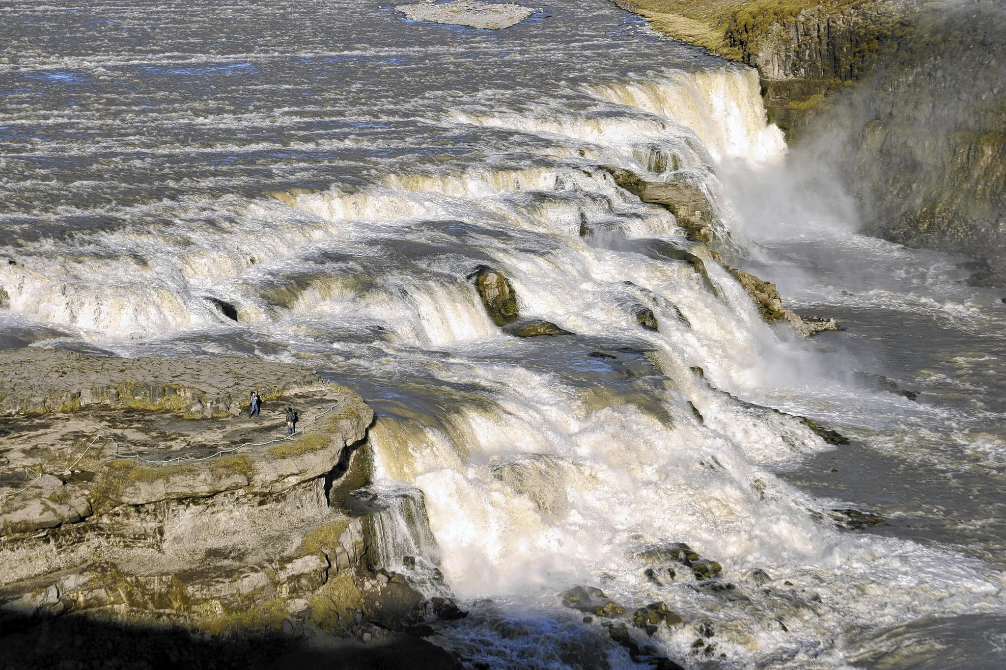 Gullfoss, one of Iceland's most impressive waterfalls, can be seen during a day trip from Reykjavik.
