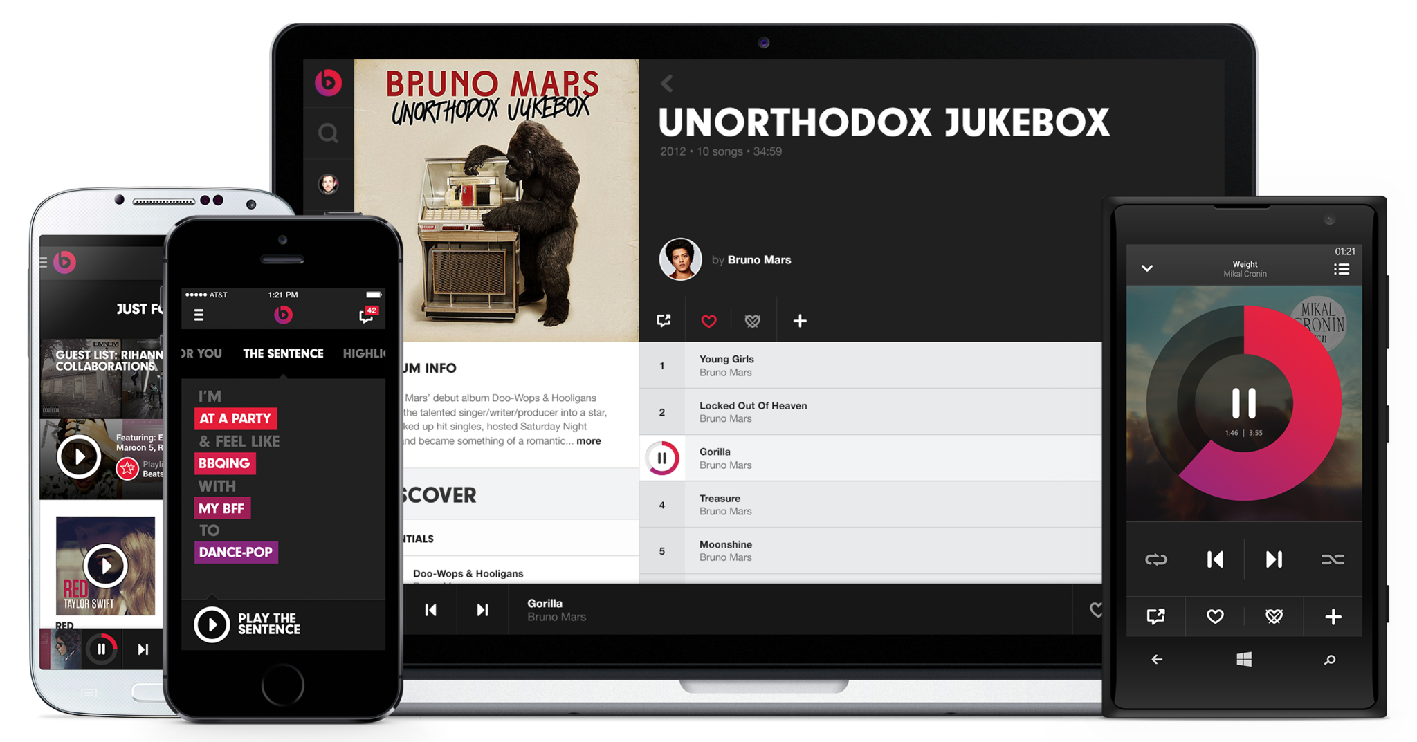Internet on-demand music service Beats Music, launched in January by headphone maker Beats Electronics, is buying Topspin Media.