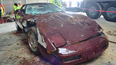 Museum recovers three of eight Corvettes swallowed by sinkhole