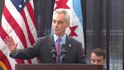Raw: Crowd member shouts at Mayor Emanuel about schools during city's b
