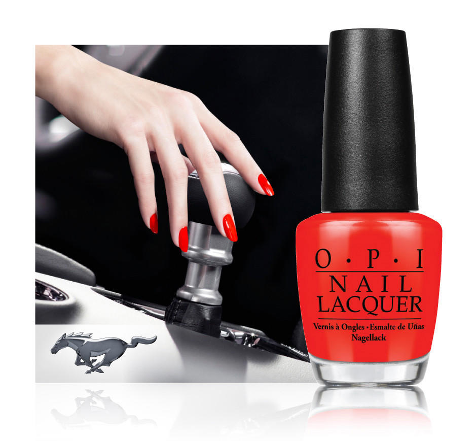 OPI shifts things up with a Ford Mustang \'Race Red\' nail lacquer ...