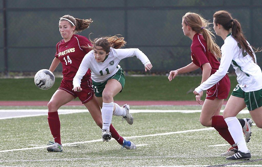 La Canada High's girls' soccer team defeated Sage Hills in penalty kicks on Monday.
