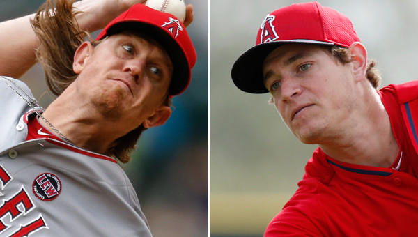 Angels pitchers Jered Weaver, left, and Garrett Richards may be a different points in the careers, but they understand the adjustments they need to make in order to maximize and nurture their talents.