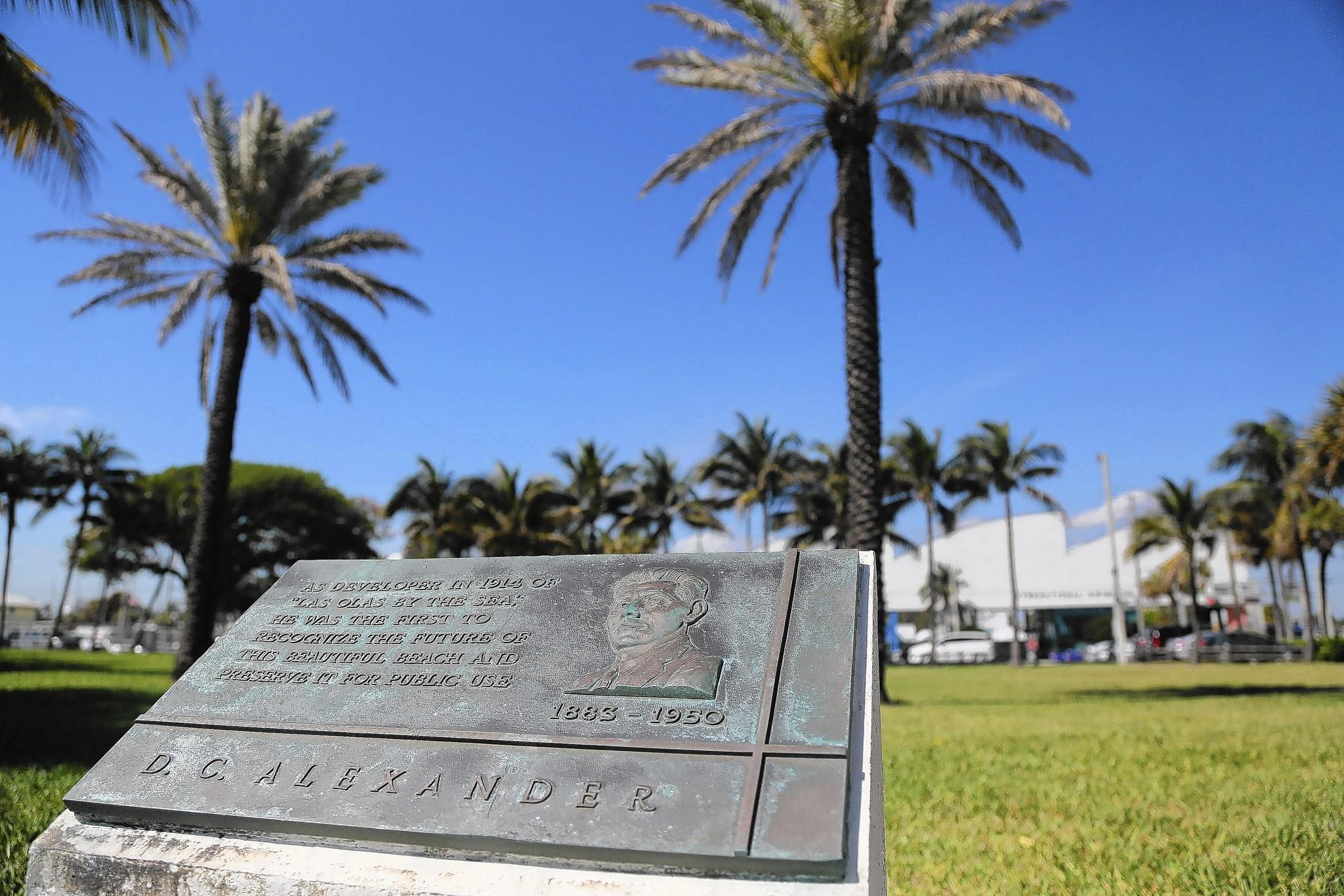 Fort Lauderdale commissioners discussed Tuesday plans for D.C. Alexander Park near the beach.