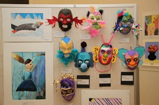 Student art on exhibit at the VCAC.