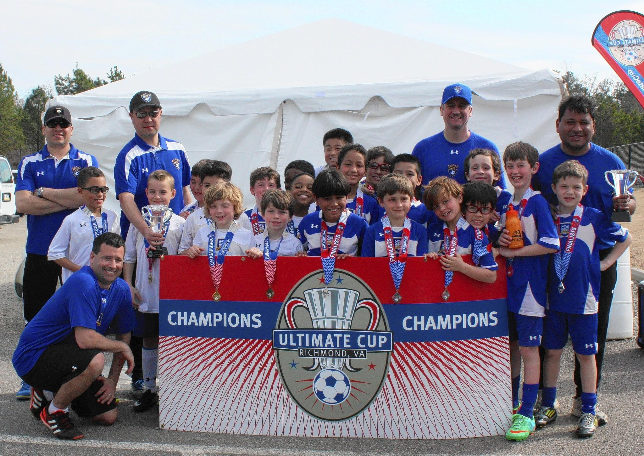 The SAC U9 Classic Blue and Premier White boys each reached the championship game of the Richmond tournament March 2.