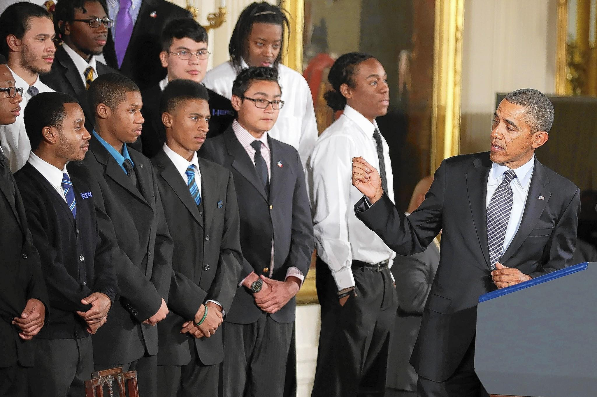 President Barack Obama introduced his My Brother's Keeper initiative with students from Chicago at the White House last week.