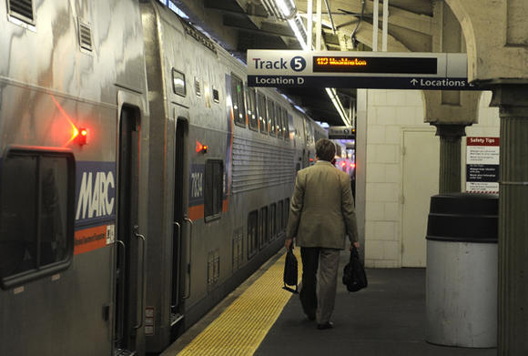 MARC train at Penn Station