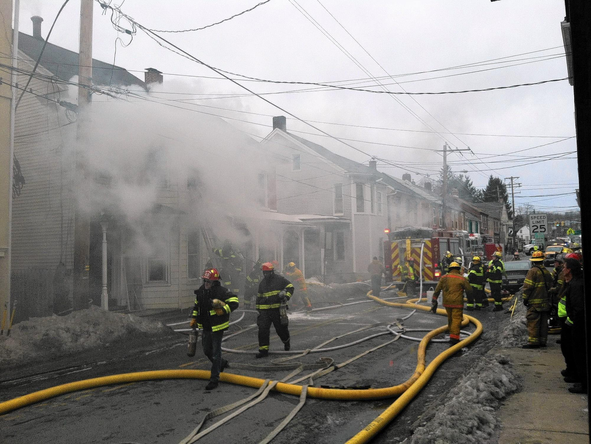 Police said a fire Monday at a home in Bath at 128 S. Chestnut St. has been ruled undetermined.