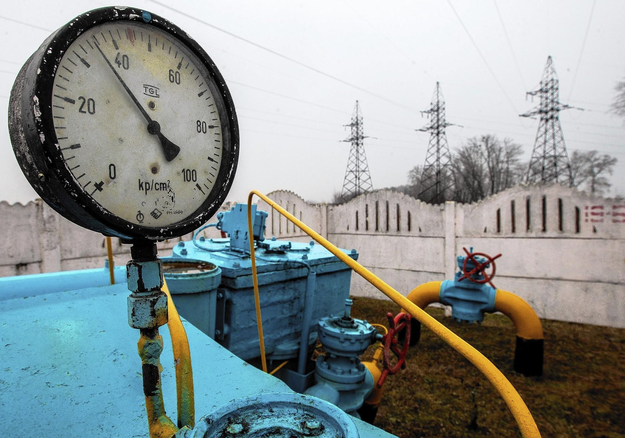 Part of a gas pipeline near Kiev, Ukraine. Russia sells natural gas to a number of European countries.