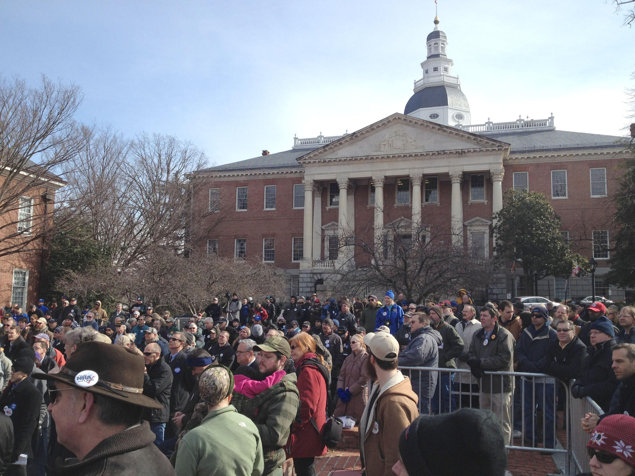 Gun rights advocates hold an Annapolis rally on Tuesday to show lawmakers that they still will argue against any further restricting of gun ownership.
