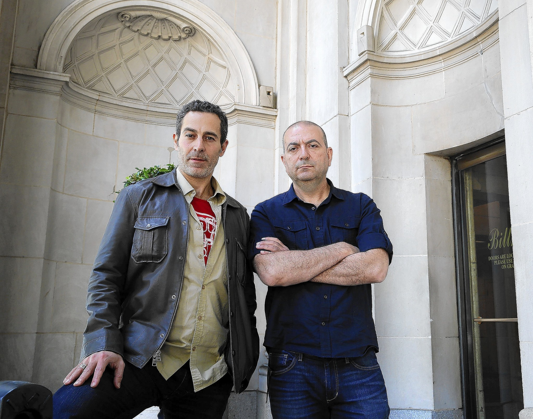 "Hany Abu-Assad, right, is the director of ""Omar,"" with actor, Waleed Zuaiter."