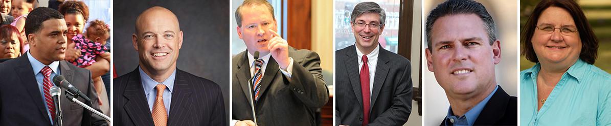 The Chicago Tribune endorses six more candidates for the Illinois House of Representatives. (L-R) John Anthony (75th), Ron Sandack (81st), Ed Sullivan (51st), Daniel Ugaste (65th), Keith Wheeler (50th) and Kathleen Willis (77th).