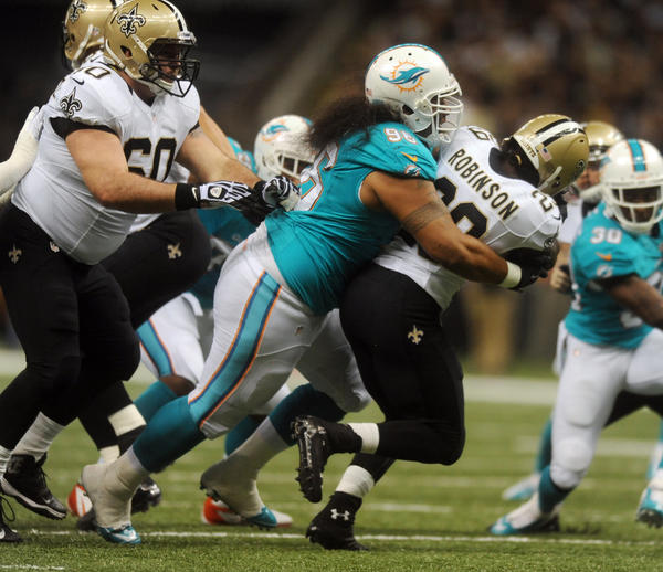 Paul Soliai has already had three contracts with the Miami Dolphins. This offseason he's looking for his final big NFL payday. The 30-year-old has established himself as one of the NFL's premiere nose tackles, and would fit in both a 3-4 and a 4-3 scheme. But the Dolphins defensive line struggled against the run last season, and that's Soliai's calling card. He's averaged 31 tackles and has contributed 4.5 sacks and two forced fumbles the past five seasons.