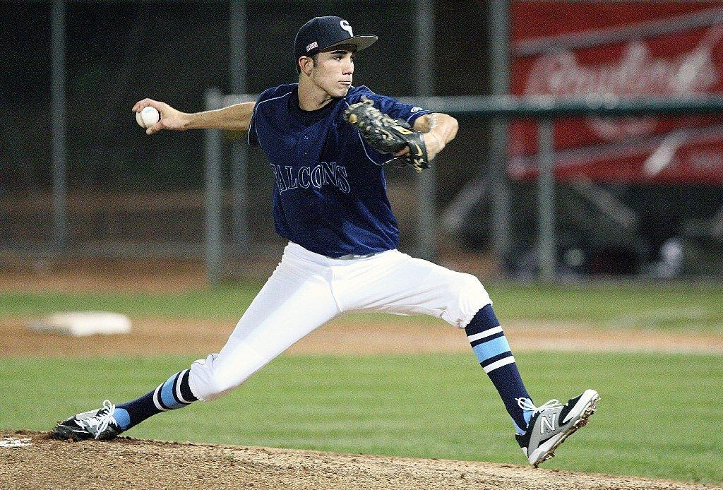 Crescenta Valley High pitcher Brian Gadsby and his squad kicked off the season Tuesday against La Cañada. (Roger Wilson/Staff Photographer)