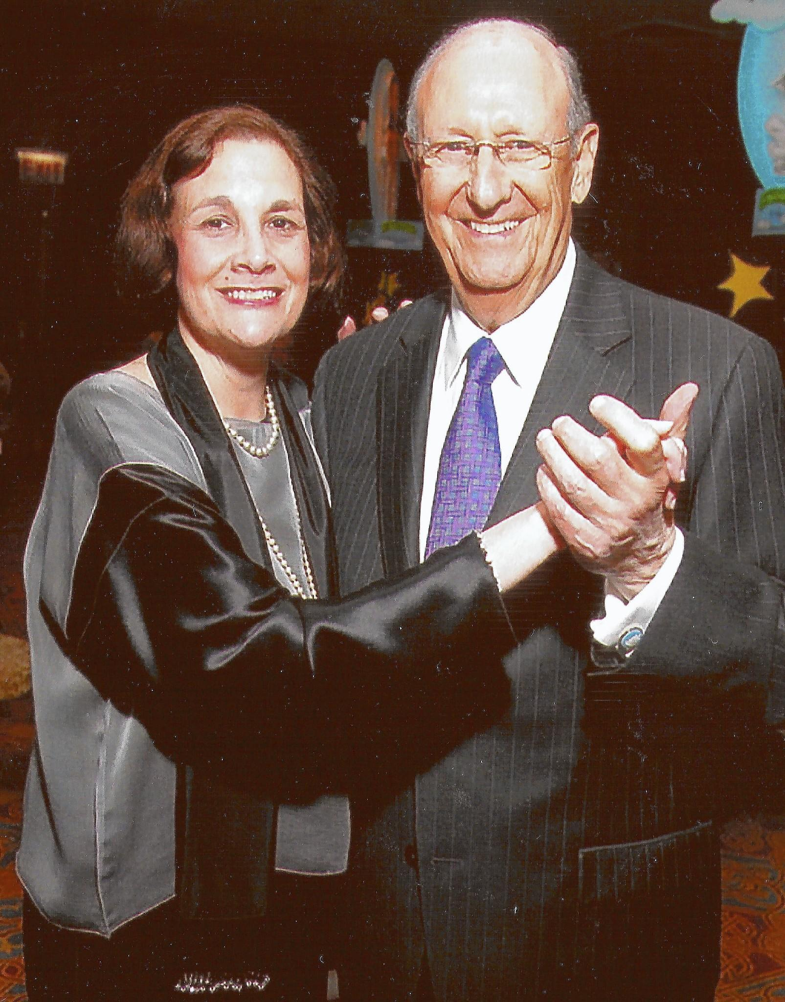 Eugene Feingold and his late daughter Leslie Schwartz