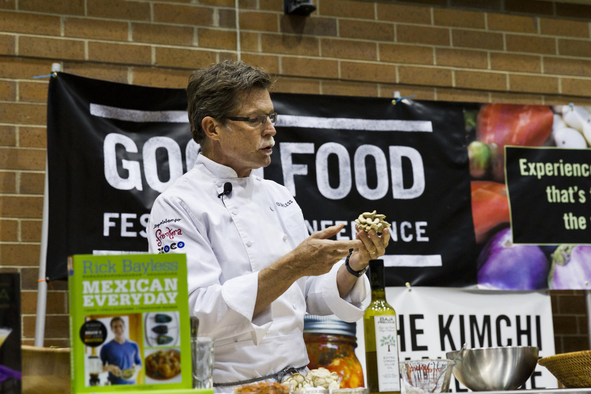 Rick Bayless presents at the 2013 Good Food Festival.