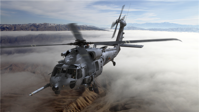 A CRH-60 Black Hawk helicopter.